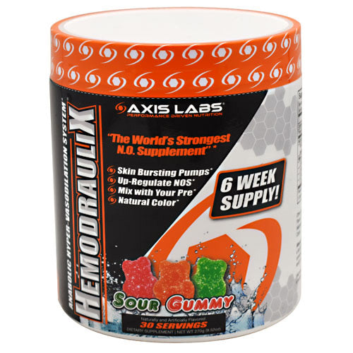 Axis Labs Marquis Series Hemodraulix - Sour Gummy - 30 Servings - 735548390909