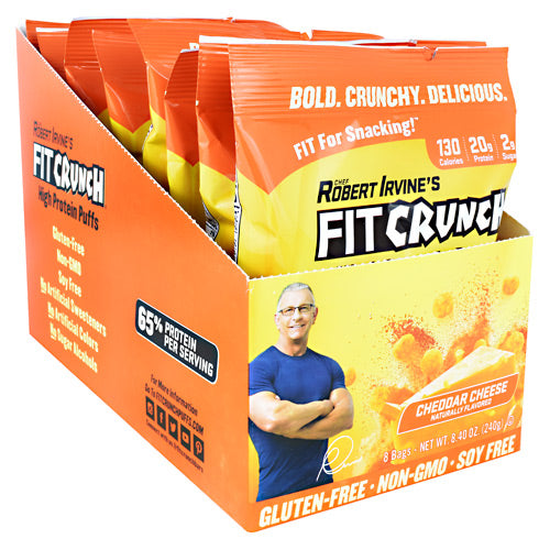 Fit Crunch Bars High Protein Puffs - Cheddar Cheese - 8 ea - 817719020898