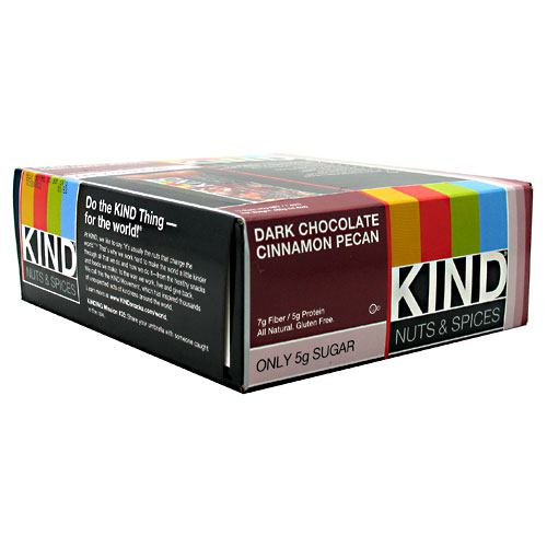 Kind Snacks Kind Bar - Dark Chocolate Cinnamon Pecan - 12 Bars - 602652177521