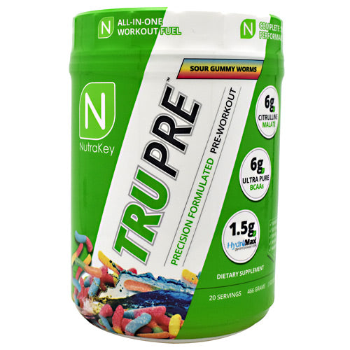 Nutrakey TRU Pre - Sour Gummy Worms - 20 Servings - 851090006775
