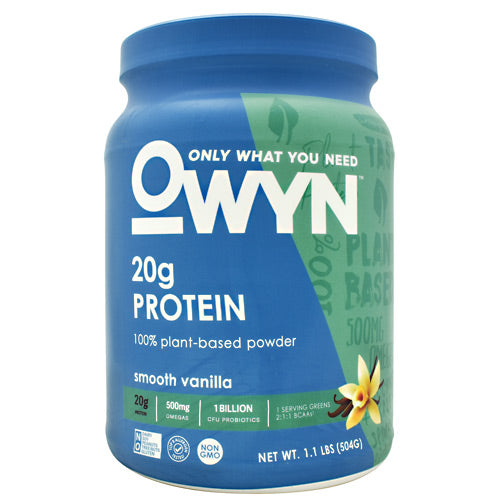 Only What You Need Plant Protein - Smooth Vanilla - 14 Servings - 857335004223