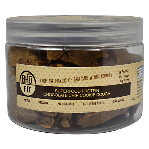 Bhu Foods BHU FIT Protein Cookie Dough - Chocolate Chip - 10 oz - 858087006220
