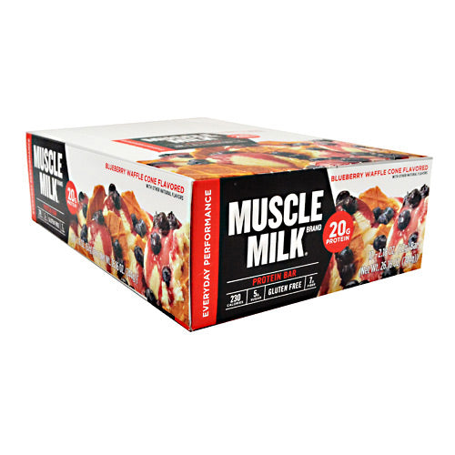 Cytosport Red Muscle Milk Bar - Blueberry Waffle Cone - 12 Bars - 660726525142