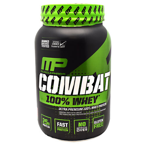 MusclePharm Sport Series Combat 100% Whey - Strawberry - 2 lb - 653341041210
