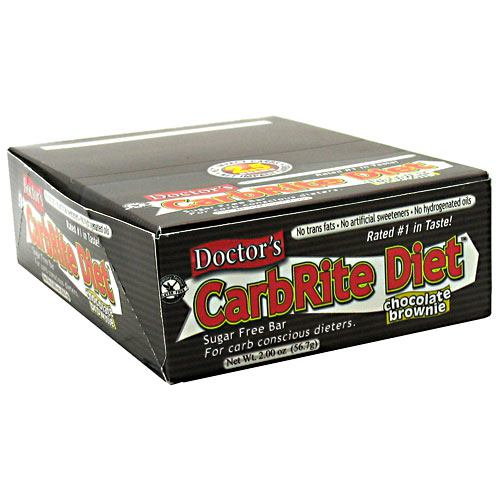 Universal Nutrition Doctors CarbRite Sugar Free Bar - Chocolate Brownie - 12 Bars - 039442081520