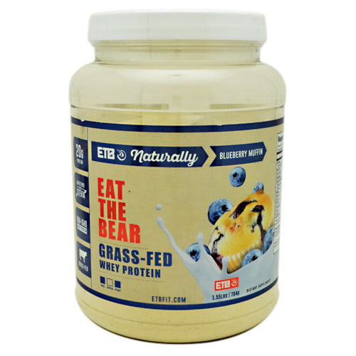 Eat The Bear Naturally Whey Protein - Naturally Blueberry Muffin - 1.55 lb - 850853007066