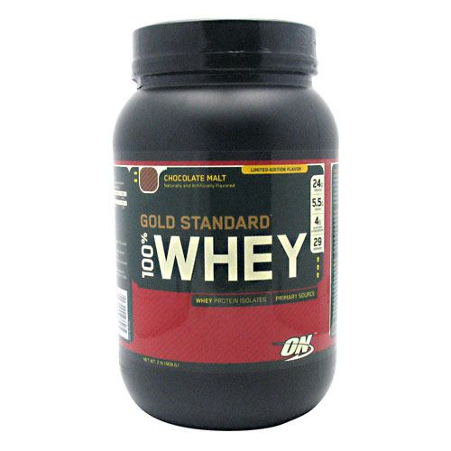 Optimum Nutrition Gold Standard 100% Whey - Chocolate Malt - 2 lb - 748927022322
