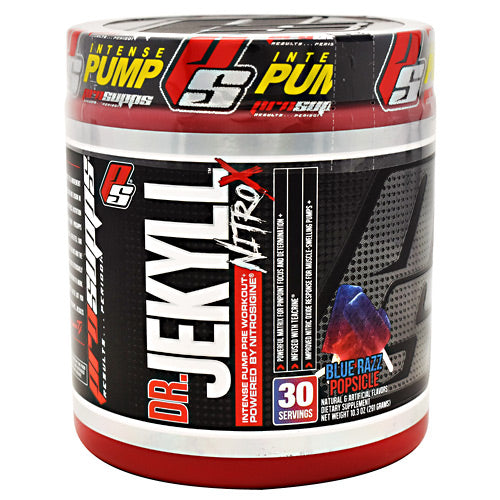 Pro Supps Dr. Jekyll Nitro X - Blue Razz Popsicle - 30 Servings - 818253021815