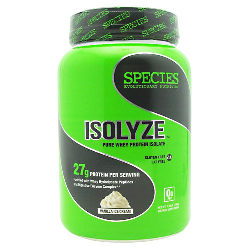Species Nutrition Isolyze - Vanilla Ice Cream - 22 Servings - 855438005666