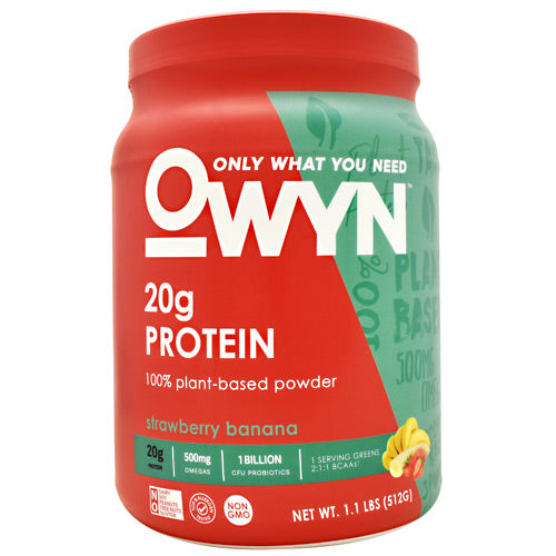 Only What You Need Plant Protein - Strawberry Banana - 14 Servings - 857335004384
