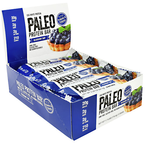 Julian Bakery Paleo Protein Bar - Blueberry Tart - 12 Bars - 813926003808