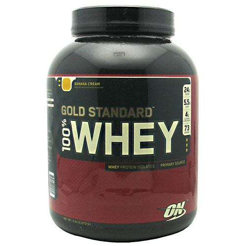 Optimum Nutrition Gold Standard 100% Whey - Banana Cream - 5 lb - 748927029574