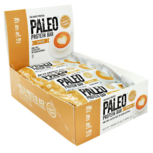 Julian Bakery Paleo Protein Bar - Espresso - 12 Bars - 813926004126
