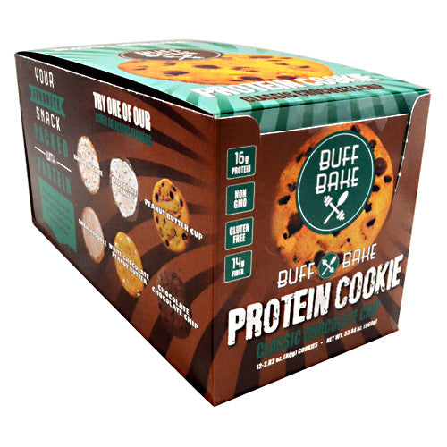 Buff Bake Protein Cookie - Classic Chocolate Chip - 12 ea - 854570007033