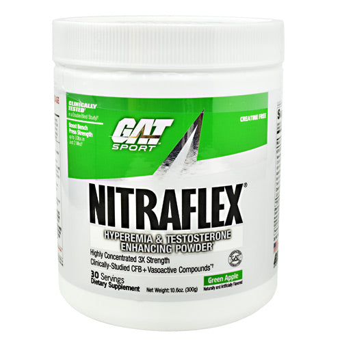 GAT Nitraflex - Green Apple - 30 Servings - 859613648884