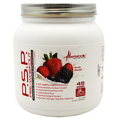 Metabolic Nutrition P.S.P Pre-Workout - Fruit Punch - 360 g - 764779236021