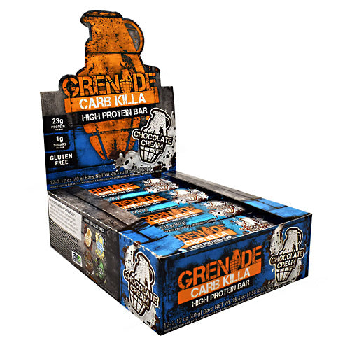 Grenade Carb Killa - Chocolate Cream - 12 Bars - 847534001154