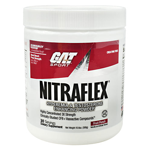 GAT Nitraflex - Fruit Punch - 30 Servings - 859613648907