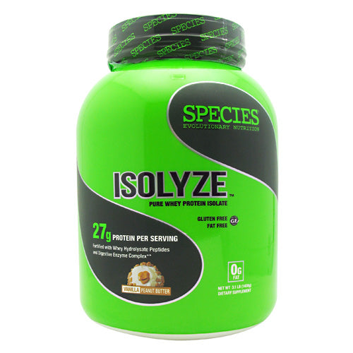Species Nutrition Isolyze - Vanilla Peanut Butter - 44 Servings - 855438005680