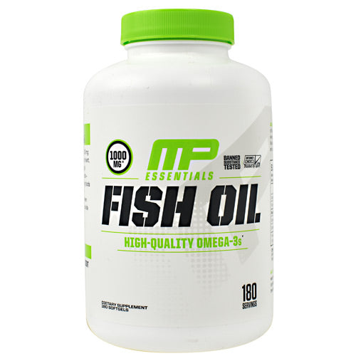 MusclePharm Essentials Fish Oil - 180 Softgels - 851387008246
