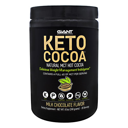 Giant Sports Products Keto Cocoa - Milk Chocolate - 20 Servings - 711583543074