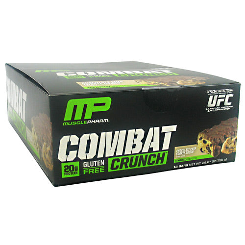 MusclePharm Hybrid Series Combat Crunch - Chocolate Chip Cookie Dough - 12 Bars - 713757372237