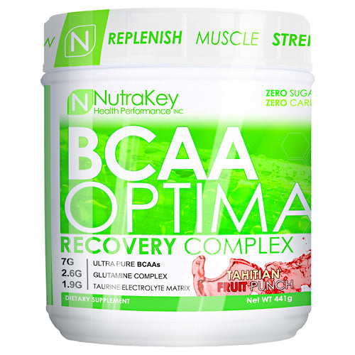 Nutrakey BCAA Optima - Tahitian Fruit Punch - 30 Servings - 851090006027