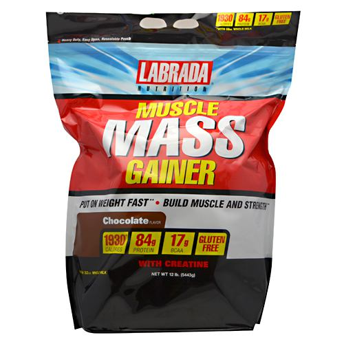 Labrada Nutrition Muscle Mass Gainer - Chocolate - 12 lb - 710779570023