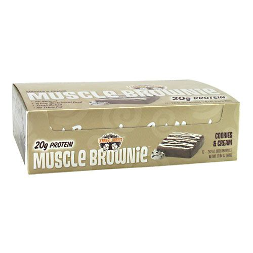 Lenny & Larrys Muscle Brownies - Cookies & Cream - 12 ea - 787692835232