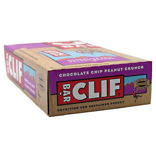Clif Bar Bar Energy Bar - Chocolate Chip Peanut Crunch - 12 ea - 722252301307
