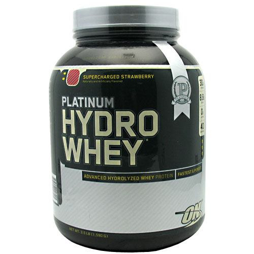 Optimum Nutrition Platinum Hydrowhey - Supercharged Strawberry - 3.5 lb - 748927026405