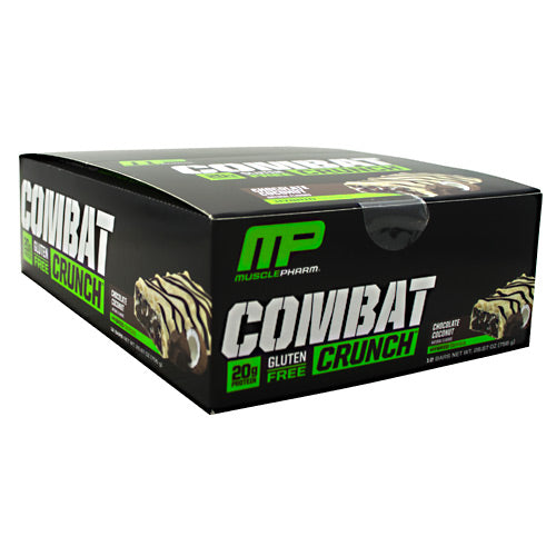 MusclePharm Hybrid Series Combat Crunch - Chocolate Coconut - 12 Bars - 653341048417