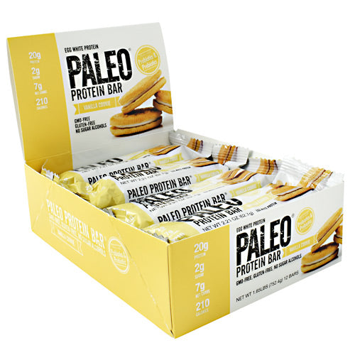 Julian Bakery Paleo Protein Bar - Vanilla Cookie - 12 Bars - 813926003747
