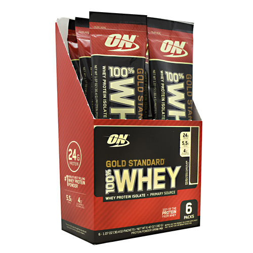 Optimum Nutrition Gold Standard 100% Whey - Double Rich Chocolate - 6 Packets - 748927958942