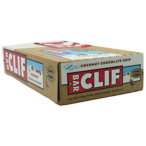 Clif Bar Bar Energy Bar - Coconut Chocolate Chip - 12 ea - 722252165305