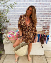 Leopard Print beach cover up