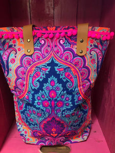 Pink and Purple Canvas Boho bag