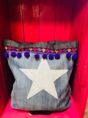 Denim Boho Bag