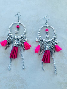 Hot pInk Gypsy earrings