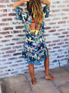 Tropical Low back dress