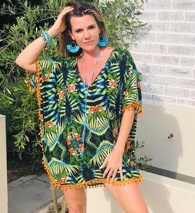 Jungle Print Beach dress