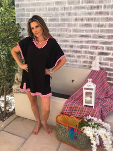 Black & Pink beach Dress
