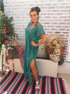 Stunning full length emerald green kaftan
