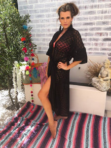 Black lace kaftan