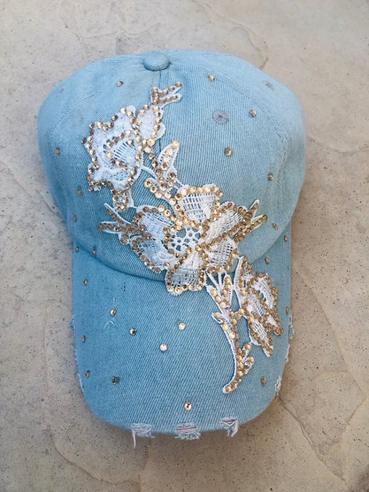 Gold flower Bling Cap