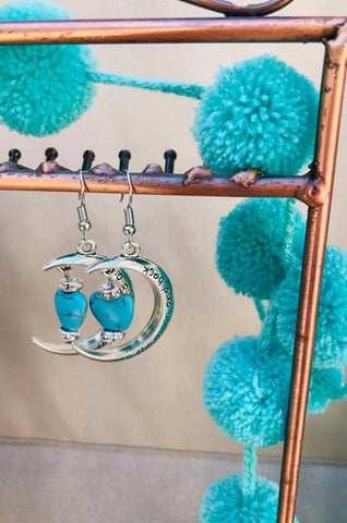Too the moon & back earrings