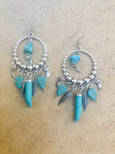 Turqoise Horn earrings