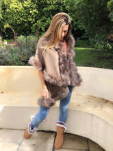 Taupe Faux fur jersey /coat