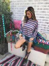Colourful striped knit top