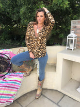Leopard Print Knit zip top